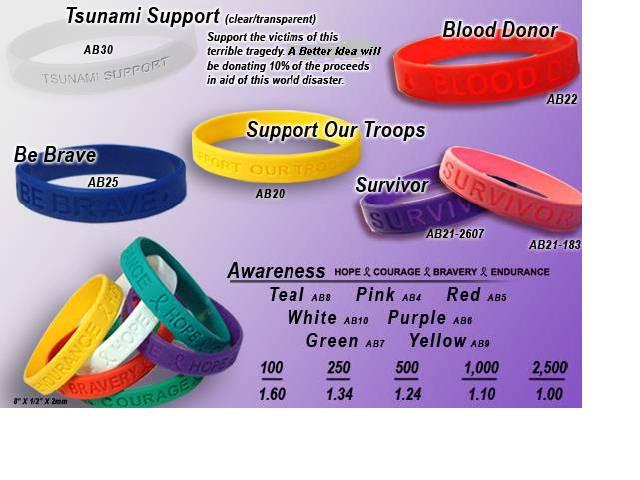 Wholesale Livestrong Quality Silicone Bracelets ...
